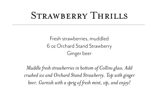 strawberry thrills recipe